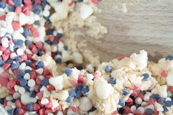 Red white and Blue Cookie Dough