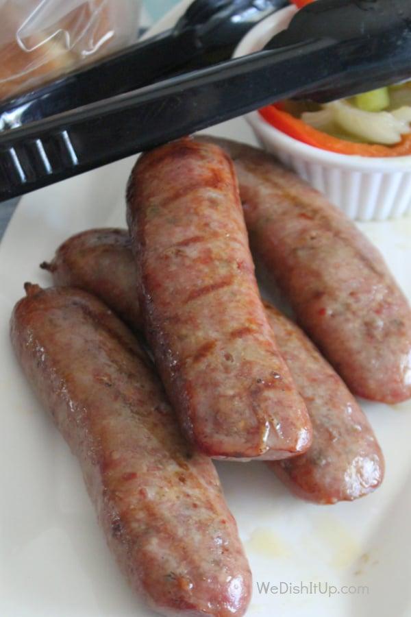 Sausage on Plate