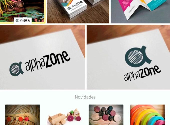 Alphazone Binquedos de Madeira - marketing digital; identidade visual;
