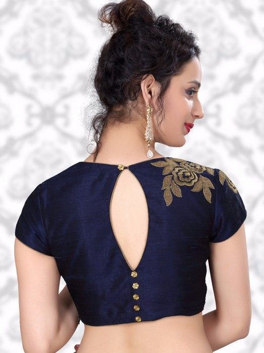 8e5952f82b420c Buttons are beautifully designed straightly on the back neck. Blue blouse  always best suits for girls with fair skin.