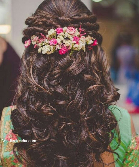 Top 30+ Latest Indian Bridal Wedding Hairstyles Images