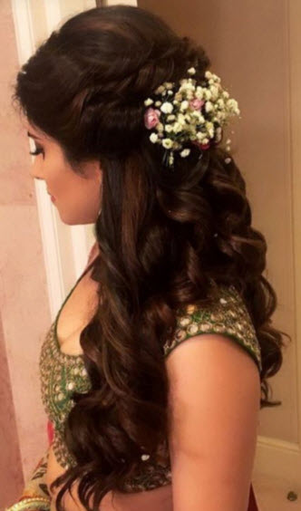 Top 30+ Latest Indian Bridal Wedding Hairstyles Images 2019-2020