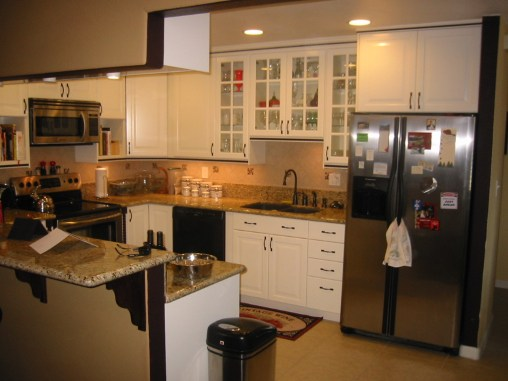 Lighted glass cabinets for pretty glassware