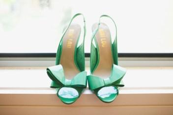 zelené botičky pro nevěstu