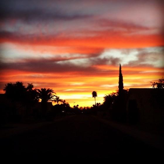 sunset april 2015
