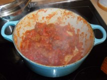 Sauce thickened and reduced.