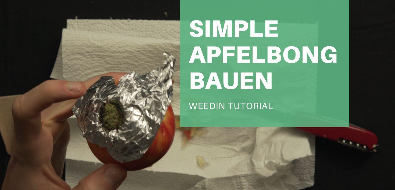simple Apfelbong bauen tutorial diy wir erklären euch wie man eine bong aus einem apfel baut. falls mal keine papers da sind