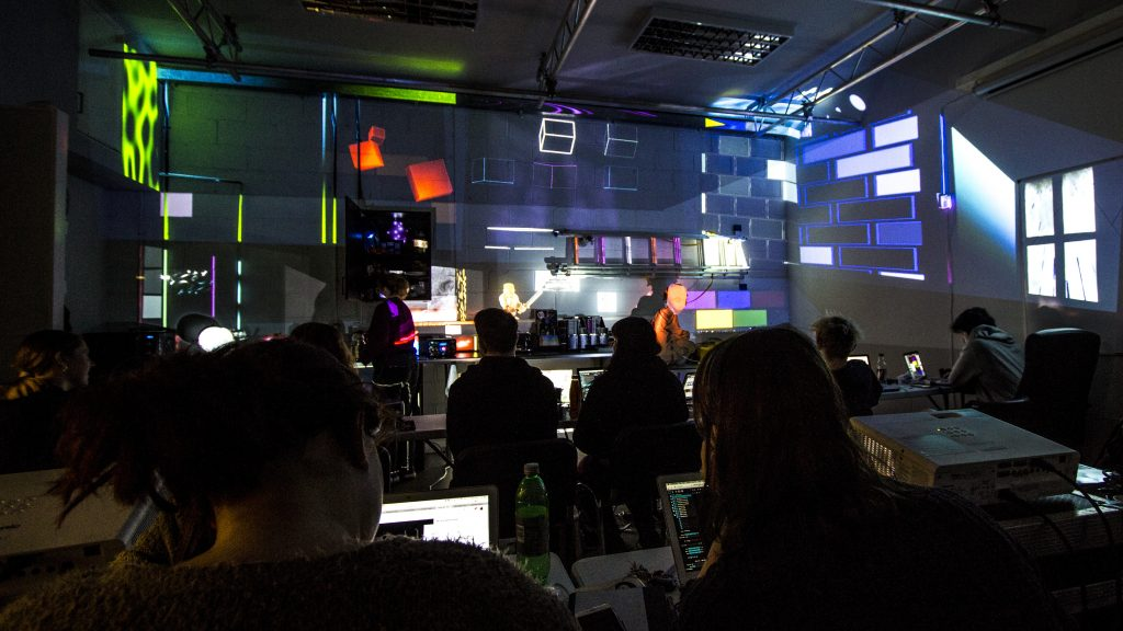 Image design and projection technology course at Edinburgh Lighting and Sound School. Projection mapping.