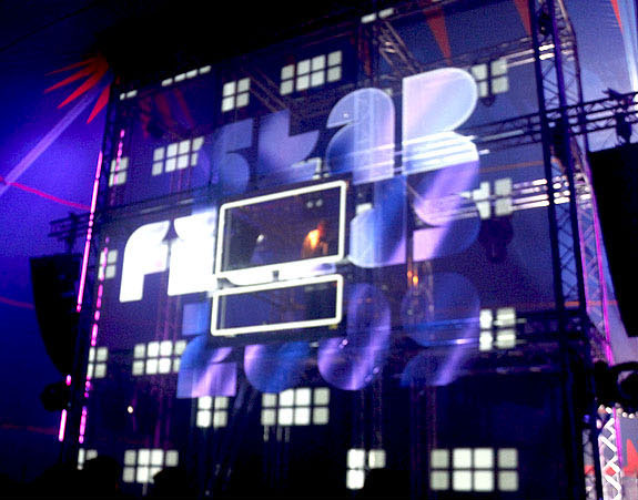 projection mapping music festival starfields scotland