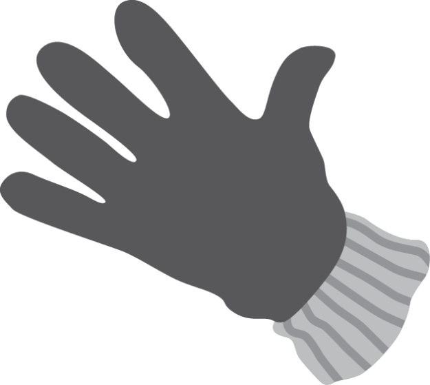 Illustration of glove for hand weeding