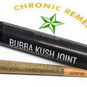 Chronic Remedy's Organic Hemp Pre-Roll | King Size RAW Cones | 1.2g Each | Organic | Bubba Kush Strain | Made In The USA