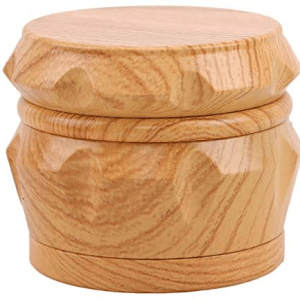 Memaw'S Herb Grinder Spice Grinder Wooden Grain Resin Grinder 4 Piece 2.5 Inch Large Capacity With Pollen Catcher, Grinder For Herb Spice (Yellow)
