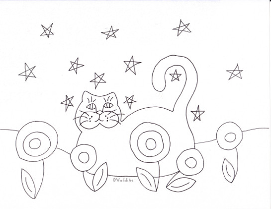 here is our black cat coloring page of course your cat can be any