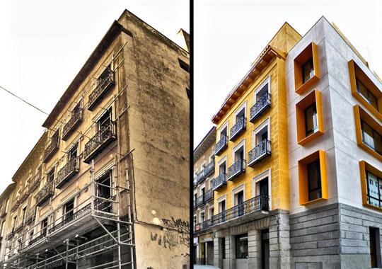 Exemple de réhabilitation d'un immeuble à Lisbonne