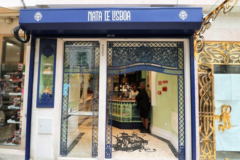 Devanture de la boutique Nata de Lisboa - Vente de pasteis de nata - Lisbonne