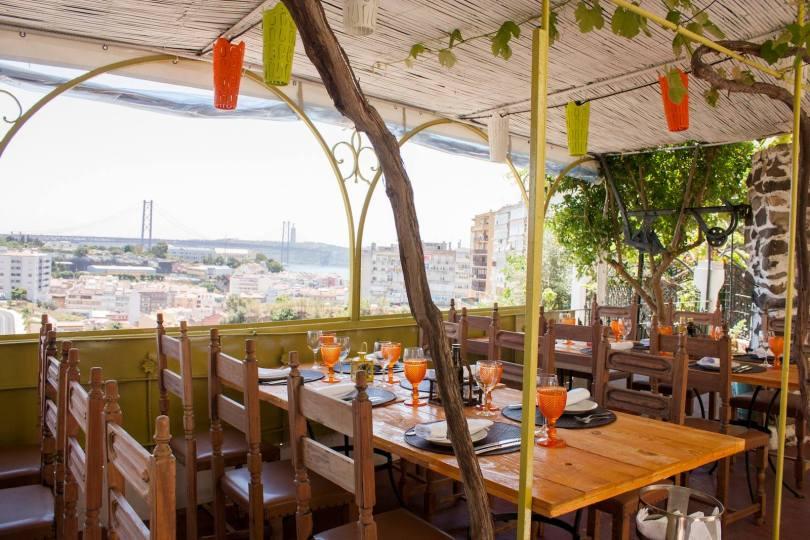 Terrasse Restaurant Lisbonne - Pateo Alfacinha