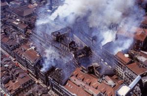 Incendie quartier du Chiado - 1988 - Lisbonne
