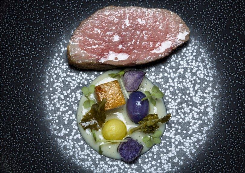 Plat du chef Joao Rodrigues - Restaurant Feitoria - Hotel Altis Belem - Lisbonne