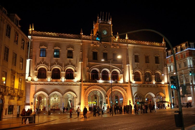 Station de train Rossio - Lisbon Destination Hostel - Auberge de Jeunesse - Lisbonne - Photo flickr de Bruno Farinha