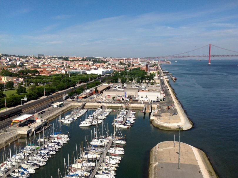 Vue sur Lisbonne depuis le Padrao dos Descobrimentos - Photo flickr de Blankenship Dorland