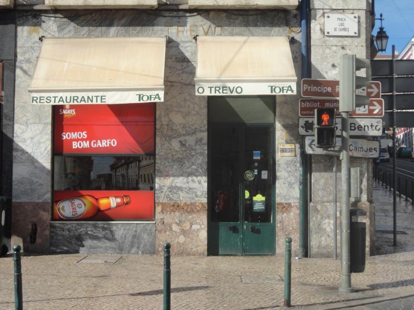 O Trevo - Facade du restaurant - bistrot - Lisbonne