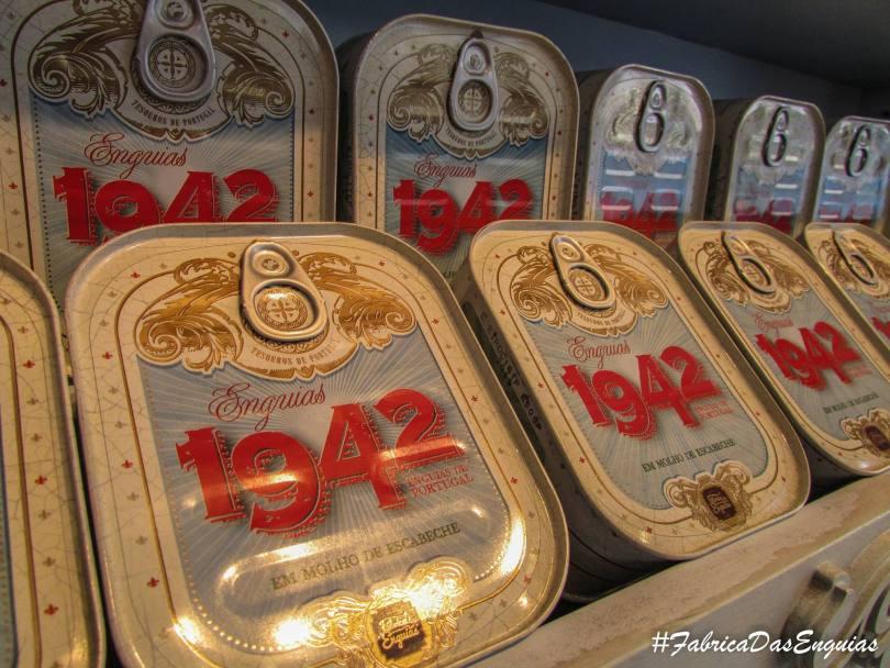 Boites de conserves anguilles de la boutique 1942 Fabrica das Enguias - Lisbonne
