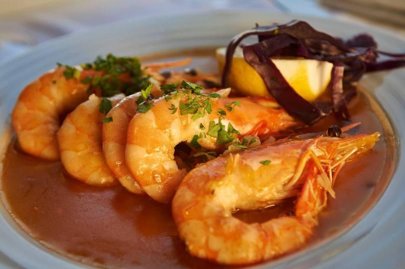 Plat de Crevettes - Restaurant Doca do Peixe - Lisbonne