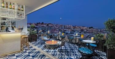 Bar Terraço Limao en soiree - Rooftop du H10 Duque de Loule - Hotel - Lisbonne
