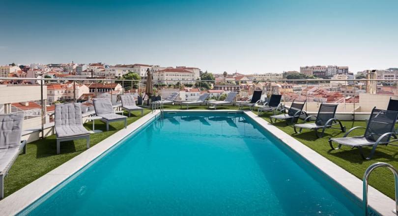 Atico Rooftop - Bar et Piscine - Hotel NH Liberdade - Lisbonne