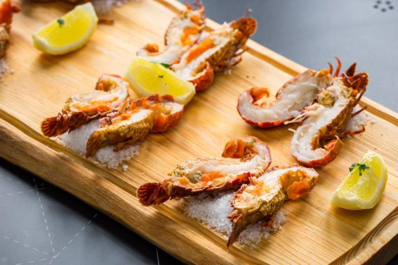 Crevettes assaisonnees - Brunch de crustaces - Pesqueiro 25 - Lisbonne