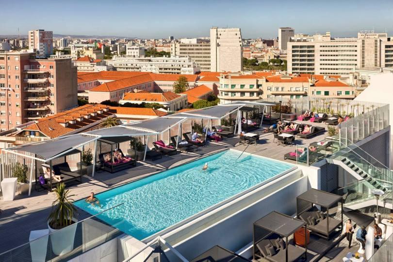 Piscine exterieure - Epic Sana Lisboa Hotel - Lisbonne