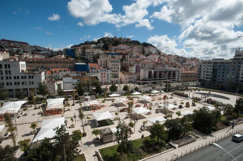 Place Martim Moniz - Mercado Fusao - Street Food - Lisbonne