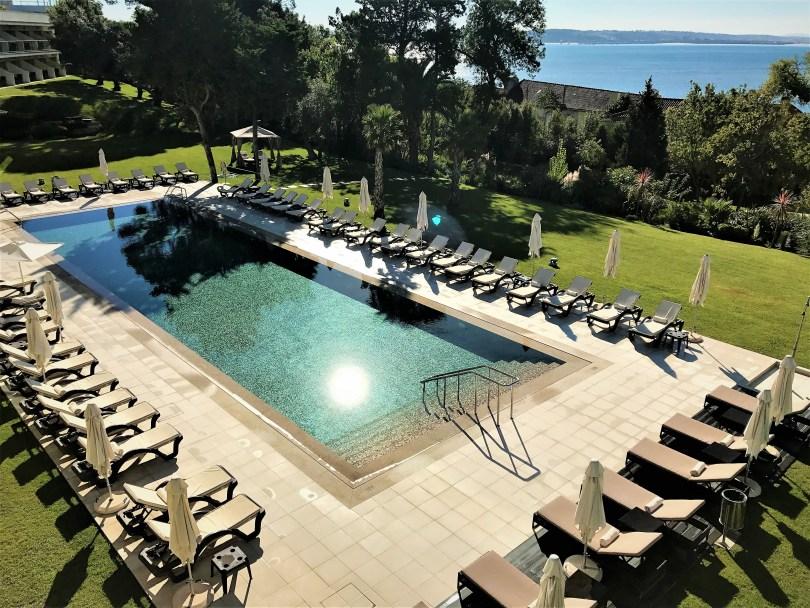 Piscine Exterieure Hotel Vila Gale Palacio dos Arcos - 5 etoiles Paco de Arcos - Lisbonne