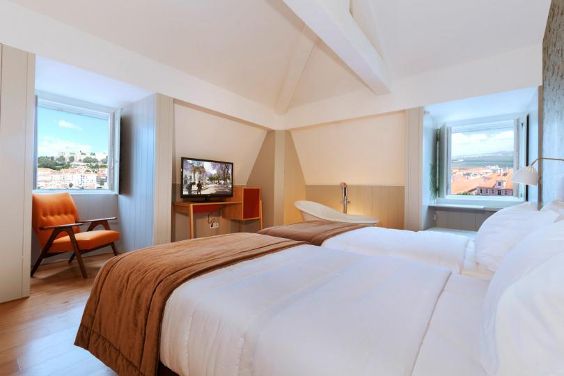 Chambre double superieure - Lisboa Carmo Hotel - 4 etoiles - Lisbonne