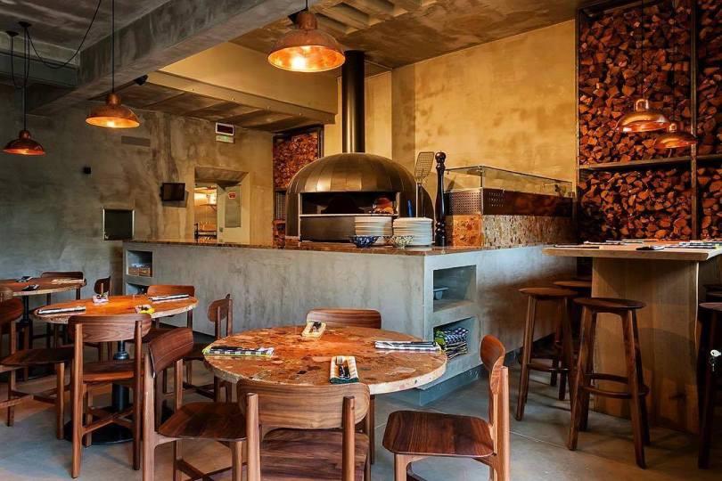 Salle et four de la pizzeria ZeroZero Principe Real - Lisbonne