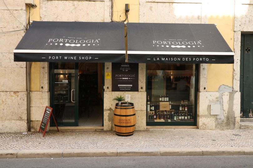 Devanture de Portologia Lisbonne - La Maison des Porto - Boutique vins de Porto - Lisbonne