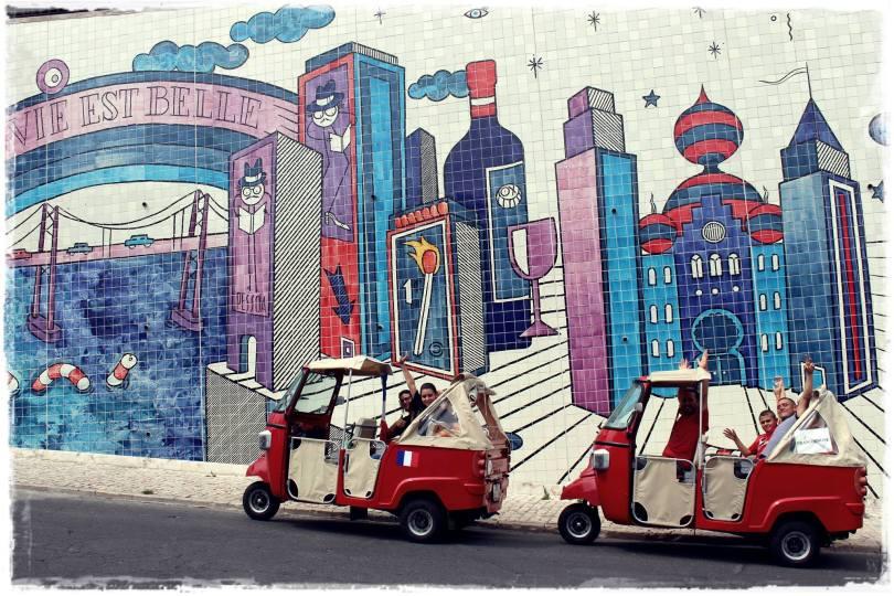 Tour de street art en tuk tuk avec Maguy de Lovelisbonne
