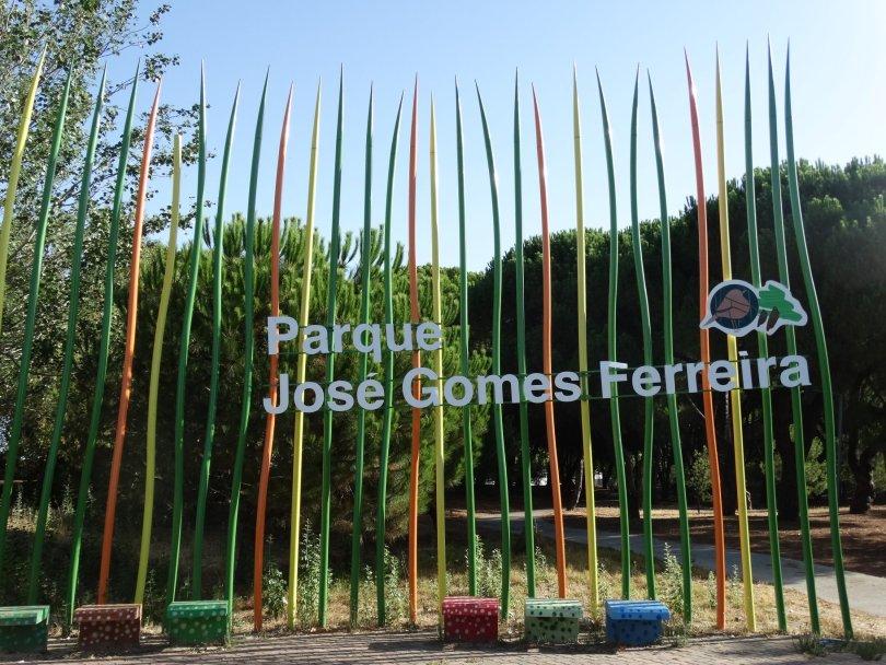 Entree du Parc Jose Gomes Ferreira - Quartier Alvalade - Lisbonne