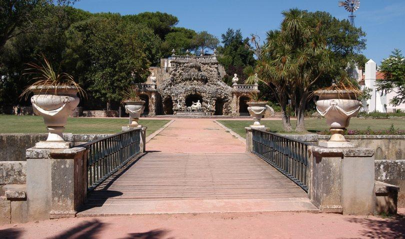 Jardin du Palais du Marquis de Pombal et sa cascade - Oeiras - Lisbonne