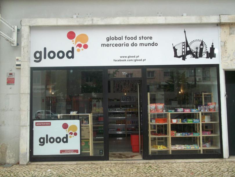 Devanture boutique Glood de Lisbonne - Epicerie du monde
