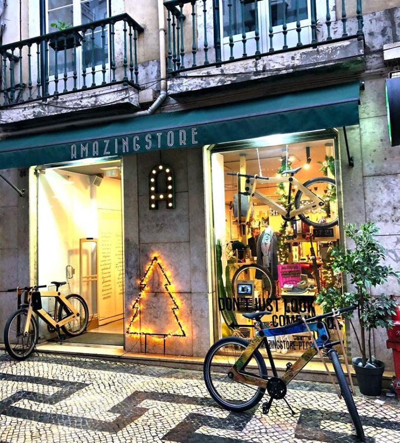 Devanture du Amazingstore du quartier de Baixa - Lisbonne