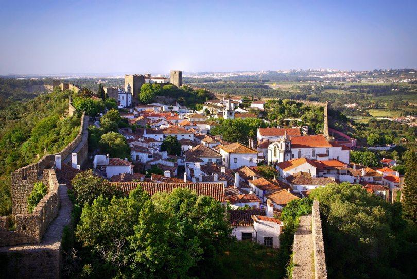 Ville de Obidos - Murailles et Chateau - Portugal