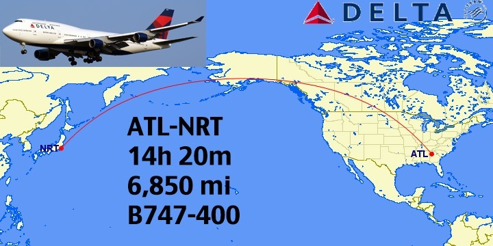 Top Longest NonStop Delta Flights In The World - The 14 longest non stop flights in the world