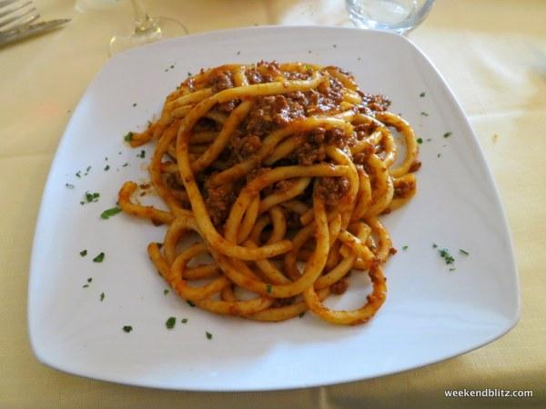 The tastiest pasta lunch!