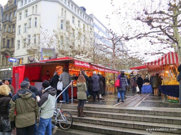 The Konstablerwache square farmer's market