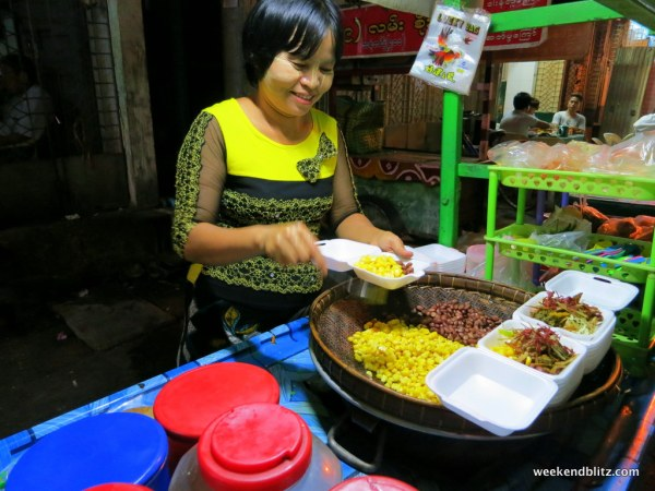 Our favorite street food cart in Yangon