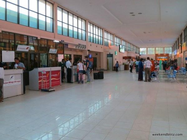 Bagan/Nyaung U airport check-in counters