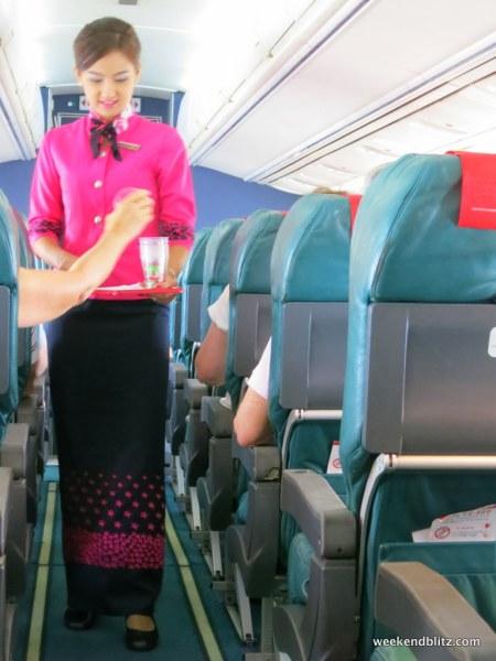 Beverage service, even on a sub 30 min flight!