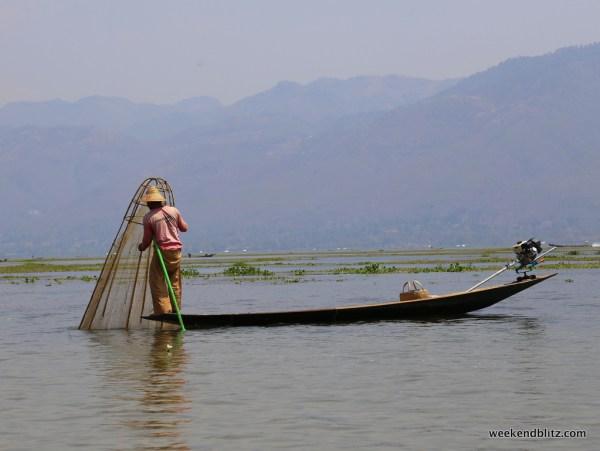 Inle Lake fisherman, a now-familiar sight