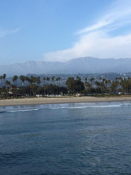 View from the Santa Barbara Pier
